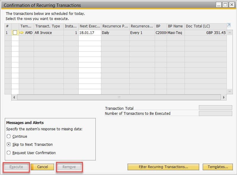 """How to Use the """"RecurringTransactionService"""" Object in SAP Business One SDK-1"""