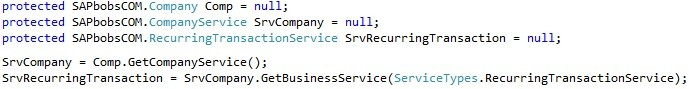 "How to Use the ""RecurringTransactionService"" Object in SAP Business One SDK2"