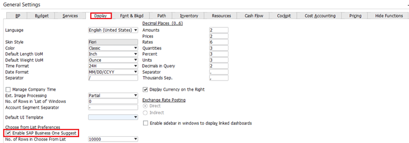 Enable-Suggestions-in-SAP-Business-One-3