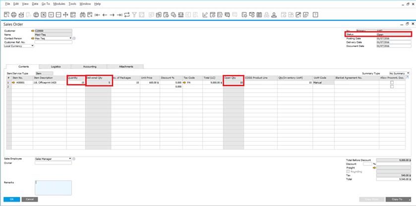 Partially-Delivered-Order-in-SAP-Business-One-1