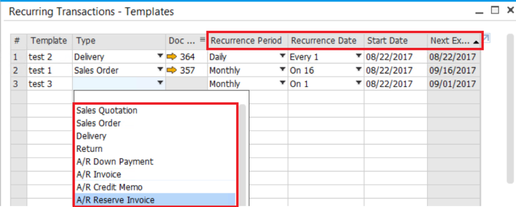 Recurring-Transactions-in-SAP-Business-One-2