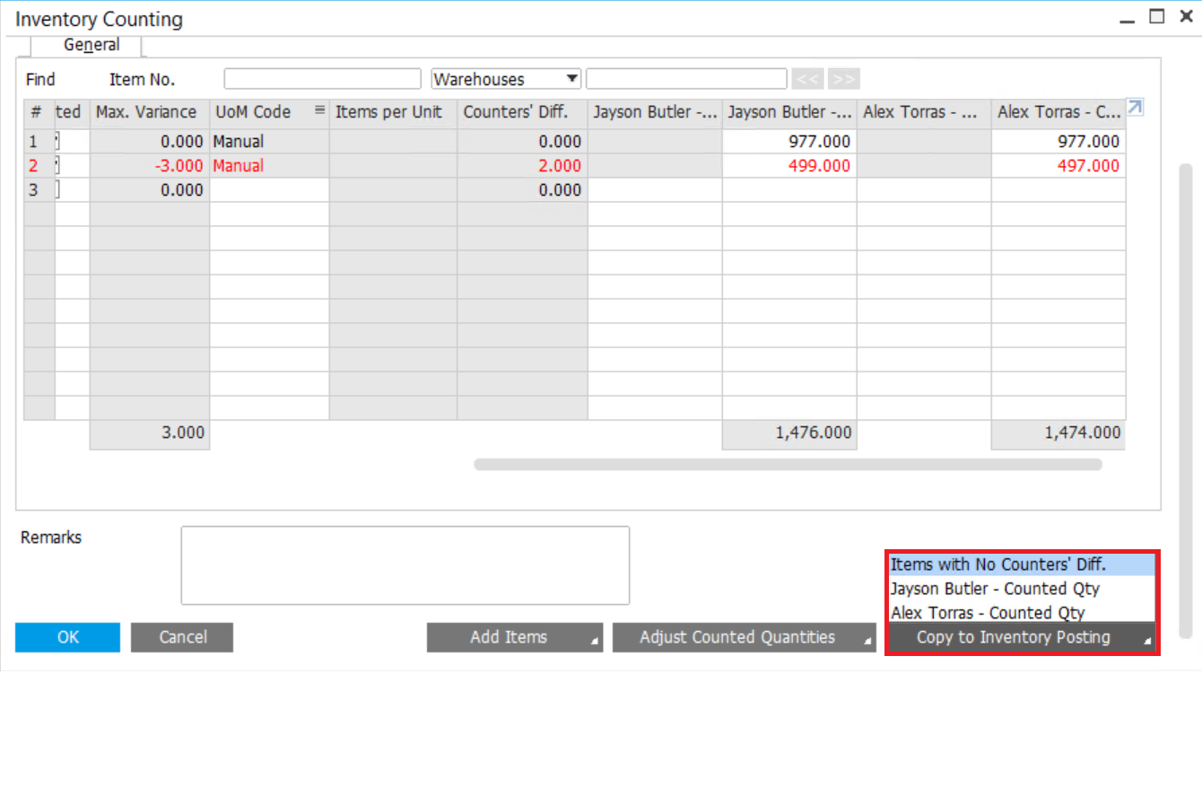 Tracking-the-Inventory-Counting-SAP-Business-One-–-5