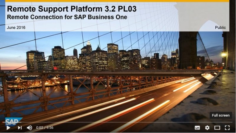 Support Spotlight Benefits of Remote Connection for SAP Business One, version for SAP HANA!1