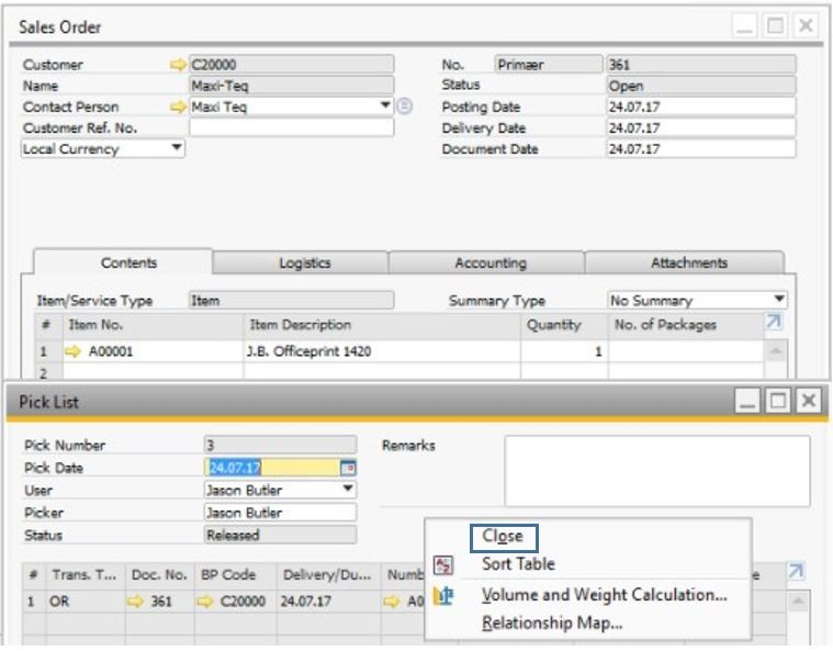 Support Spotlight Your Top 3 Questions on Pick and Pack in SAP Business One3
