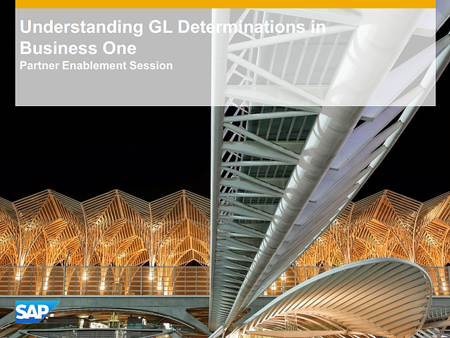 Understanding G/L Determinations in SAP Business One