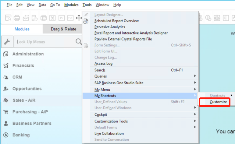 Customize-Shortcuts-in-SAP-Business-One-1.png