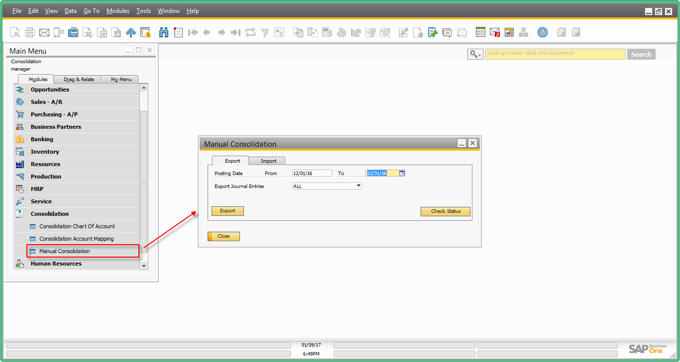Intercompany integration solution for SAP Business One – Financial Consolidation11.png