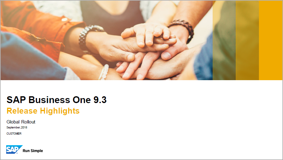 SAP Business One 9.3 Highlights_Sept_18