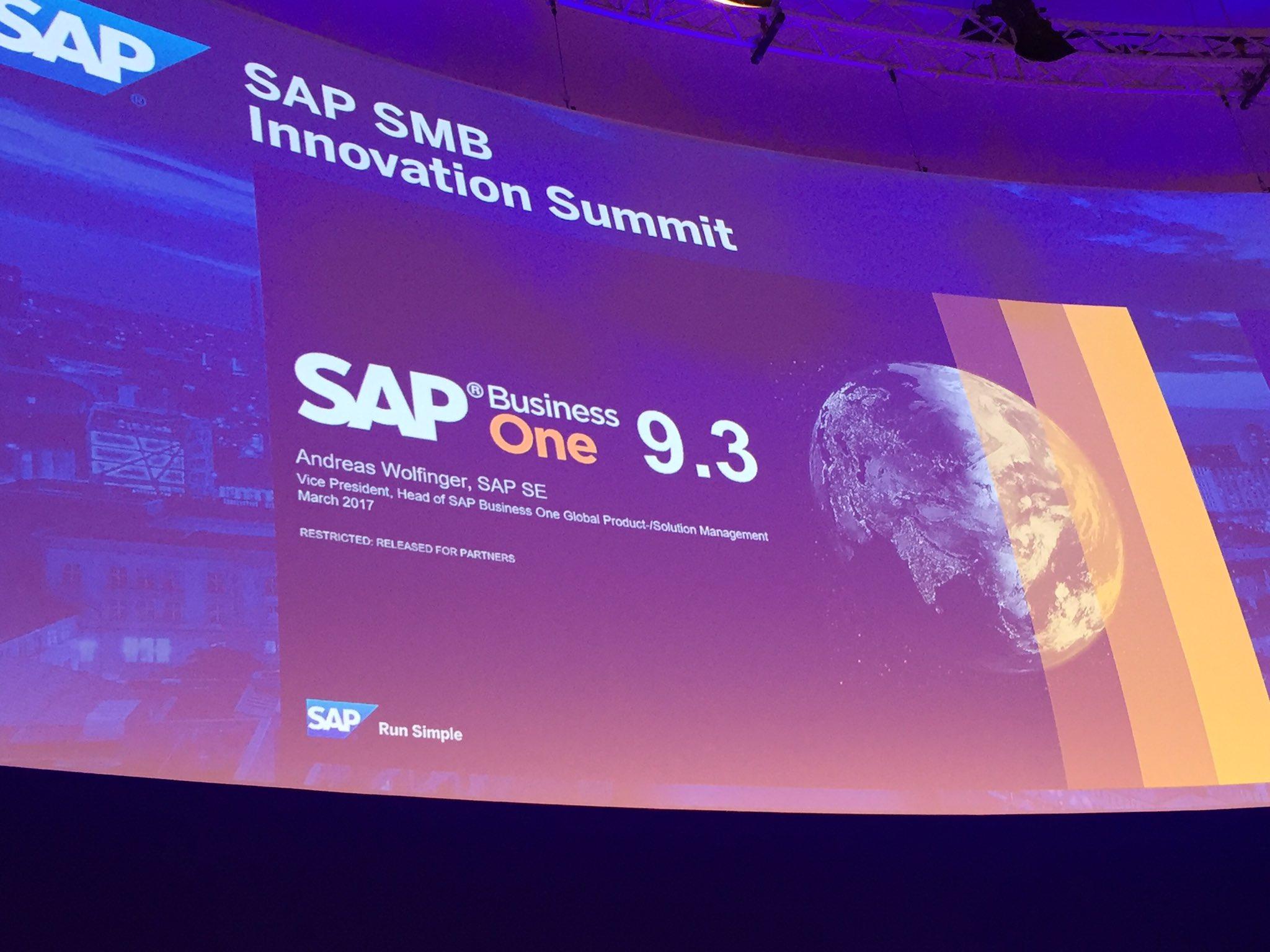 SAP Announced SAP Business One 9.3