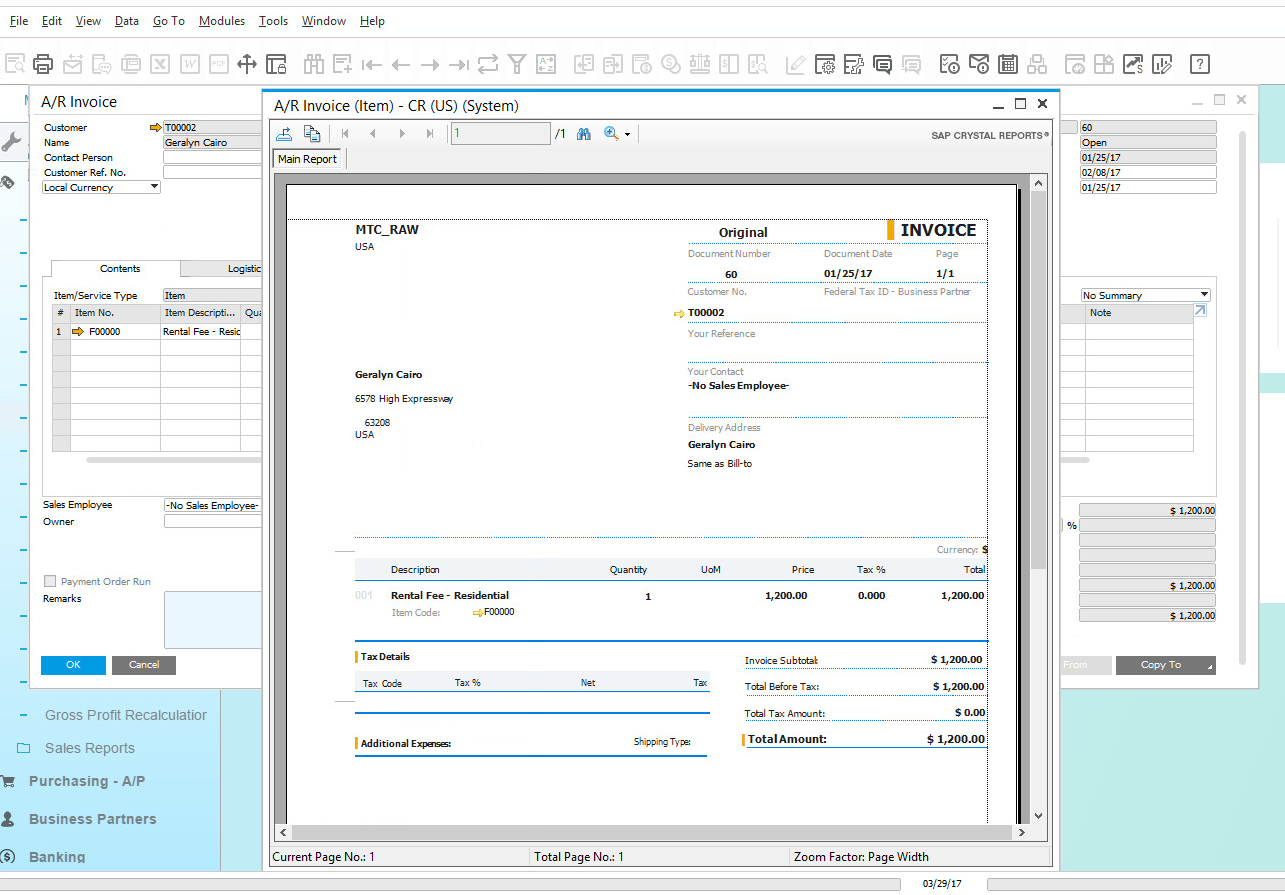 Business Intelligence in SAP Business One