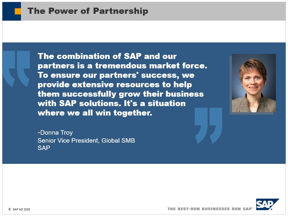 History of SAP Business One - Chapter 9 - The birth of SAP PartnerEdge program