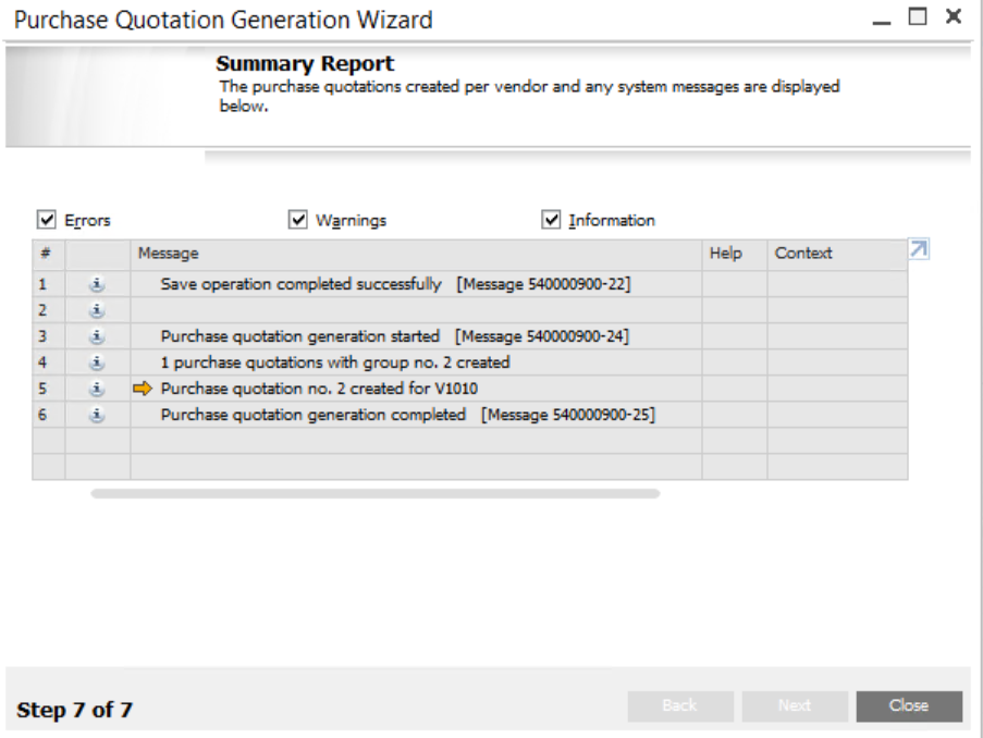 Purchase Quotations Wizard in SAP Business One