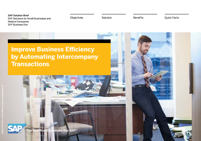 Improve Business Efficiency by Automating Intercompany Transactions