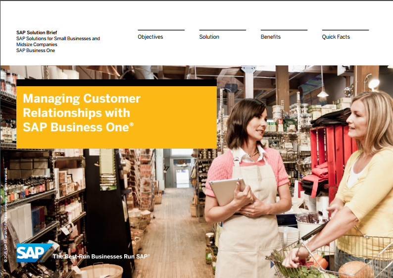 SAP Business One Managing Customer Relationships
