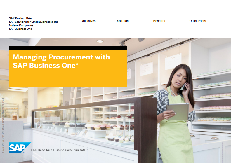 SAP Business One Managing Procurement