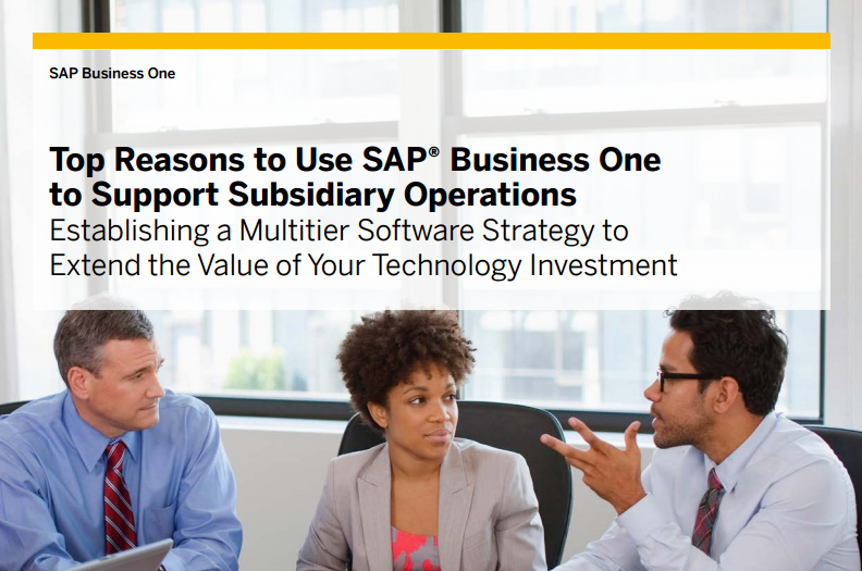 How does SAP Business One Manage Subsidiaries