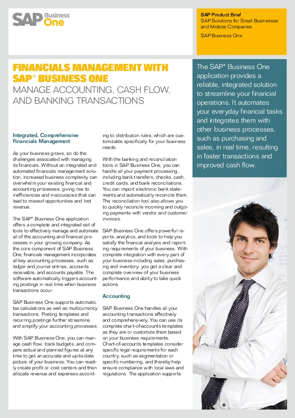 SAP Business One Financials Management