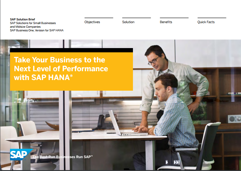 Take your business to the next level of performance with SAP HANA