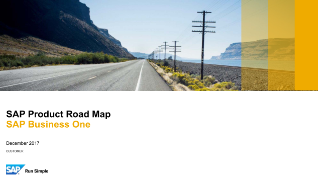 SAP Business One Product Road Map English